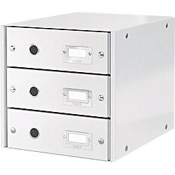 Schubladenset Click & Store 6048-00-01, weiß, 290x283x360mm, 3 Schubladen