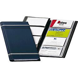 Visitenkartenbuch Visifix/8581-07, blau, 250 x 118 mm,Inh. für 96 Karten