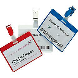 Namensschilder Security/8612-19 60 x 90 mm farblos Inhalt 5 Stück
