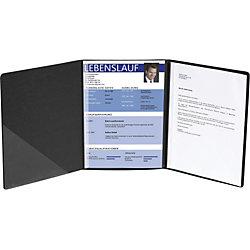 Bewerbungsmappe Leinenstruktur/49401B, schwarz