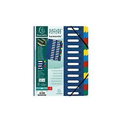 Ordnungsmappe Harmonika/55242E, blau, 24-teilig, für A4
