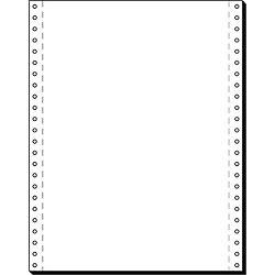 Computer-Endlospapier 12241 DIN A4 70 g/m² Vertikal gelocht Weiß 2.000 Blatt