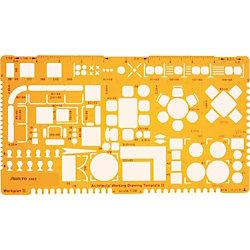 Zeichenschablone Techn. Zeichnen Orange Kunststoff