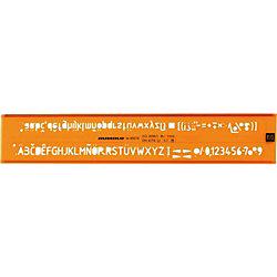 Schriftschablonen 89025, orange/transp., Schrifthöe 2,5 mm