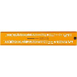 Schriftschablone 89050, orange/transparent, Schrifthöe 5,0 mm