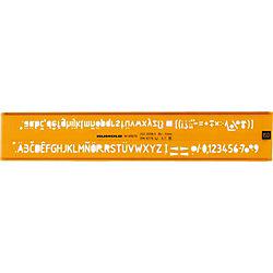Schriftschablone 89070, orange/transparent, Schrifthöe 7,0 mm