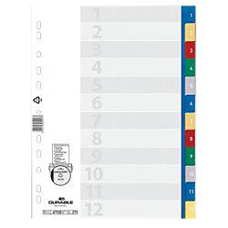 Ordner-Register 6750 DIN A4 Farbig 12-teilig Universal PP-Folie 1 bis 12
