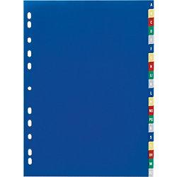Ordner-Register 6755 DIN A4 Farbig 20-teilig Universal PP-Folie A - Z