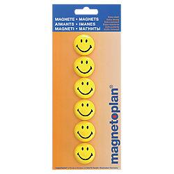 Magnete Smiley Schwarz/Gelb 6 Stück