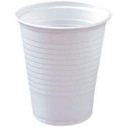 Plastikbecher 0,15 l Weiß