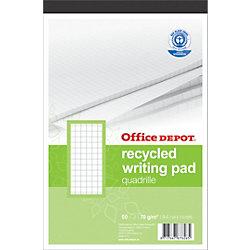 Recycling-Notizblöcke Recycled Weiss Kariert DIN A4+ 21 x 29,7 cm Blatt