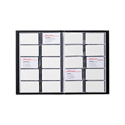 Visitenkarten-Box DIN A4 400 Karten Schwarz 23 x 31 cm