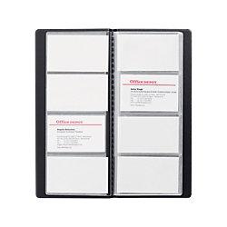 Visitenkarten-Box DIN A4 96 Karten Schwarz 11,5 x 25,3 cm