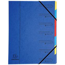 Fächermappe 54073E DIN A4 Blau Manila Karton