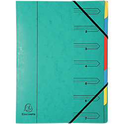 Fächermappe 54073E DIN A4 Grün Manila Karton