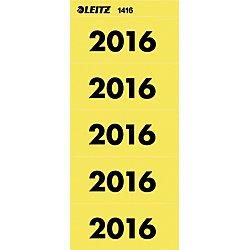 Inhaltsschildchen 2016 60 mm 6 x 2,55 cm Gelb 100 Stück