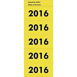 Jahreszahlen 2016 5,7 x 2,8 cm Gelb 100 Stück