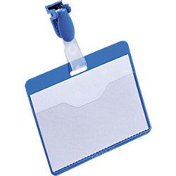 Namensschilder mit Clip Blau 25 Stück
