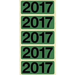 Jahreszahlen 2017 48 x 19 mm 100 Stück