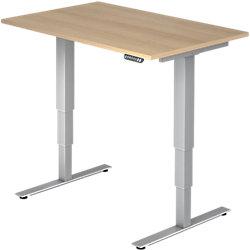Schreibtisch XDSM 120 x 80 cm Eiche, Silber