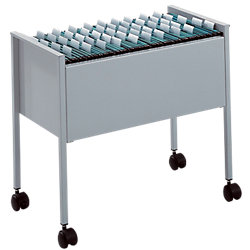 Hängemappenwagen Silbermetallic 65,5 x 36,8 x 59,2 cm