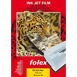 Folien für Inkjet-Ausdrucke BG32.5 RS DIN A4 Transparent 50 Blatt