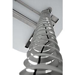 Kabelspirale Silber 9 x 111,4 cm
