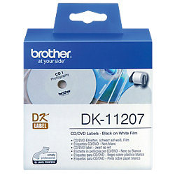 CD-/DVD-Etiketten DK11207 58 mm Weiß 100 Stück