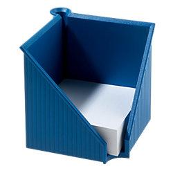 Zettelkasten mit Stifthalter Linear Blau 10,8 x 12,7 x 12,7 cm