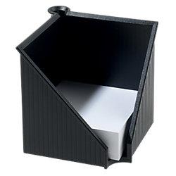 Zettelkasten mit Stifthalter Linear Schwarz 10,8 x 12,7 x 12,7 cm