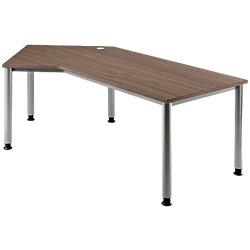 Schreibtisch links/rechts Matrix Nussbaum-Nachbildung 210 x 113 x 68 - 76 cm
