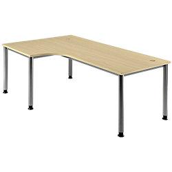 Schreibtisch Ahorn-Nachbildung 200 x 120 x 76 cm