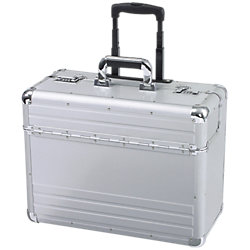 Mobiler Pilotenkoffer Omega 48 x 23 x 38 cm Silber