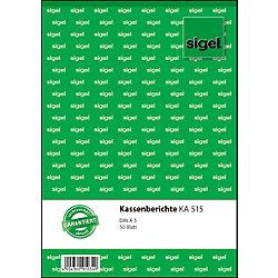 Kassenbericht DIN A5 50 Blatt