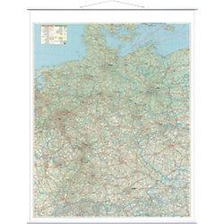 Deutschlandkarte, Straßen Weiß 97 x 137 cm
