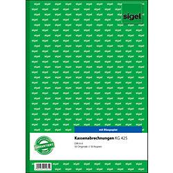 Kassenabrechnung DIN A4 2 x 50 Blatt