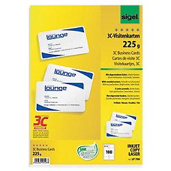 PC-Visitenkarten 3C DIN A4 225 g/m² Weiß 100 Stück