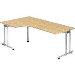 Schreibtisch Ahorn-Nachbildung 200 x 120 x 72 cm