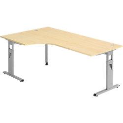 Schreibtisch Matrix Ahorn-Nachbildung 200 x 120 x 68 - 76 cm