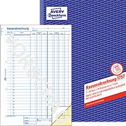 Kassenabrechnung / 1757, SD, DINA4 hoch, Inh.2x40Blatt