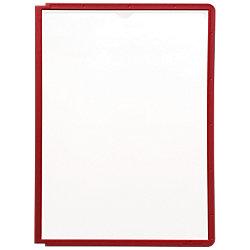 Sichttafeln Sherpa® DIN A4 Rot Polypropylen 5 Stück