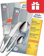 Gratis WMF Besteckset Avery Zweckform Etiketten