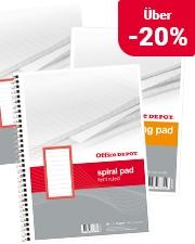Jetzt ab 5,39€ Office Depot® Spiralblöcke