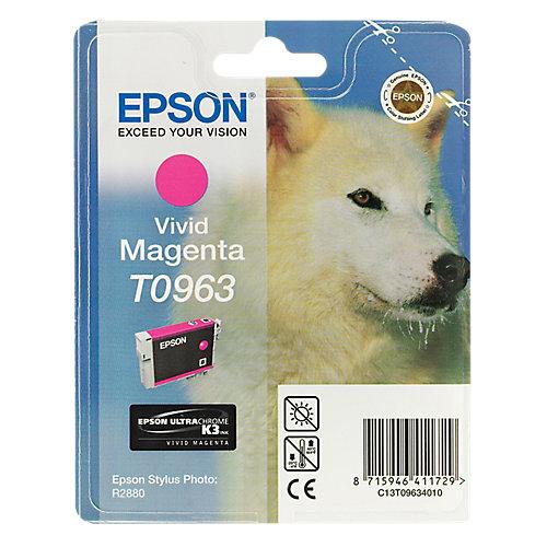 Epson T0963 Vivid Magenta Ink Cartridge (helder rood)