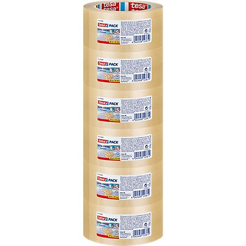 Tesa Ultra strong Standaard verpakkingstape Transparant 65 µm 50 mmx66 m 6 Rollen