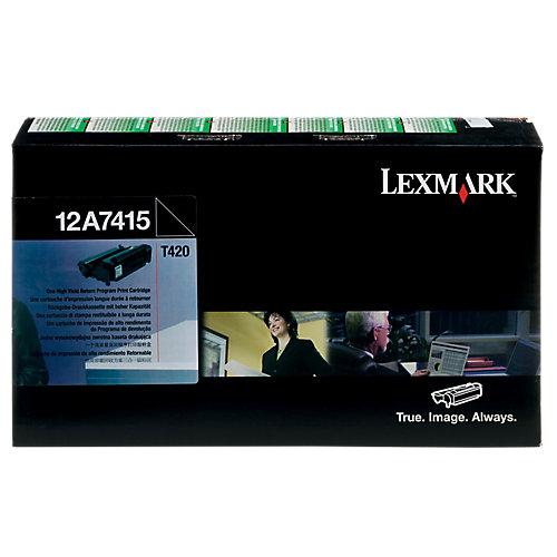 Lexmark Toner T420 HC zwart prebate 12A7415