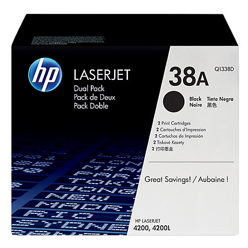 HP 38A - Tonercartridge / Zwart / 2 Pack