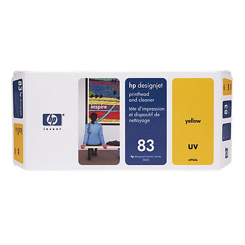 HP 83 - Inktcartridge / Geel + Cleaner