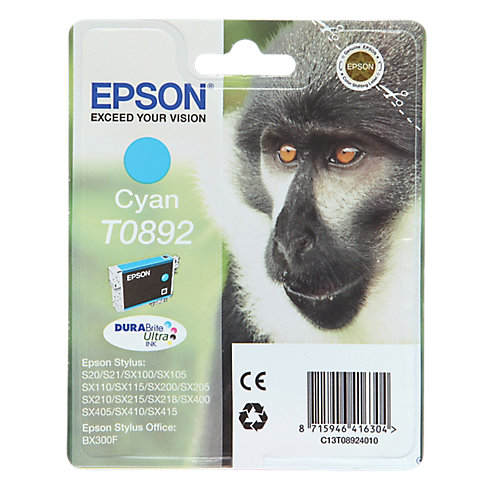 Epson T089240 Inkt Cartridge Cyaan