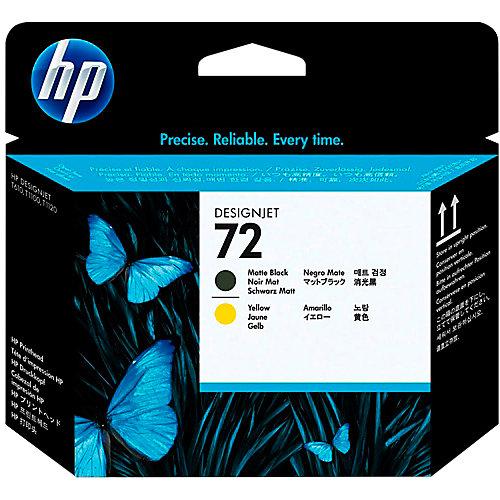 HP 72 - Inktcartridge / Mat Zwart / Geel